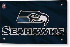Seattle Seahawks Uniform Acrylic Print by Joe Hamilton