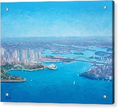 Sydney Harbour And The Opera House Aerial View  Acrylic Print
