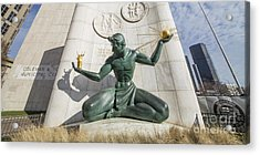 The Spirit Of Detroit Acrylic Print by Twenty Two North Photography
