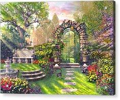 The Garden Gates Acrylic Print by Dominic Davison