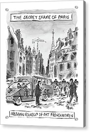 The Secret Shame Of Paris Acrylic Print by Lee Lorenz