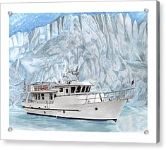 65 Foot World Cruising Yacht Acrylic Print by Jack Pumphrey