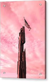 911 Memorial Sky Acrylic Print by Ann Johndro-Collins