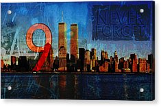 911 Never Forget Acrylic Print by Anita Burgermeister