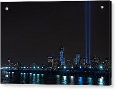 911 Tribute In Lights 2 Acrylic Print by Douglas Adams