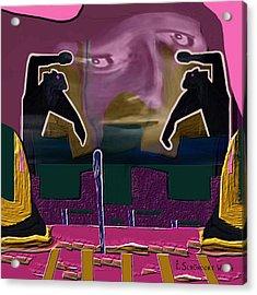 966 - Rage  Acrylic Print by Irmgard Schoendorf Welch