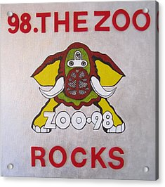 98.the Zoo Rocks Acrylic Print by Donna Wilson
