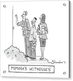 Mimosa's Witnesses Acrylic Print