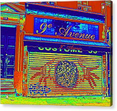 Acrylic Print featuring the photograph 9th Avenue by Rosemarie Hakim