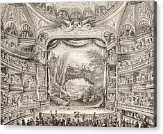 A 1789 Performance In The Theatre Des Varietes Amusantes Acrylic Print by French School