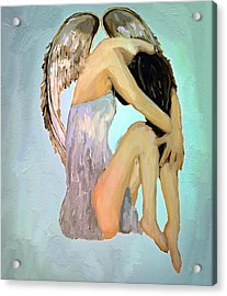 A Angels Tears Acrylic Print by Iris Piraino