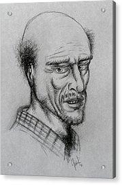 A Bald Guy Acrylic Print by Joaquin Maldonado