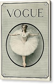 A Ballerina Acrylic Print by Artist Unknown