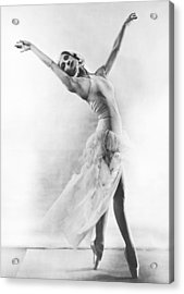 A Ballet Dancer Acrylic Print by Underwood Archives