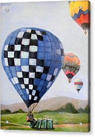 A Balloon Disaster Acrylic Print by Donna Tucker