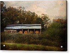 A Barn For The Hay Acrylic Print by Jai Johnson