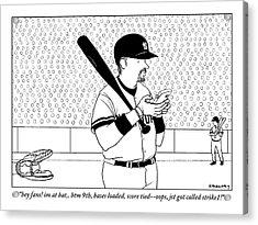 A Baseball Player Yankees Twitters Acrylic Print
