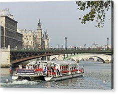 A Bateaux Cruises On The Seine River Acrylic Print