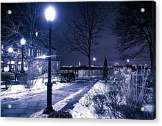 A Battery Park Winter Acrylic Print