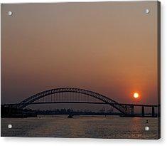 A Bayonne Sunset Acrylic Print by Cornelis Verwaal