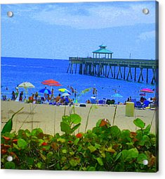 Acrylic Print featuring the photograph A Beach Day by Artists With Autism Inc