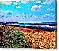 A Beach In Cape Cod Acrylic Print