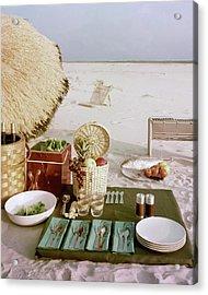 A Beach Picnic Acrylic Print