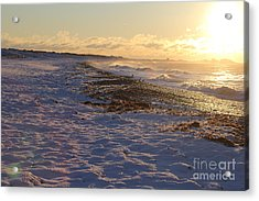A Beachy Sunrise In The Winter Acrylic Print