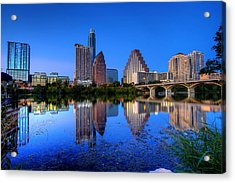 A Beautiful Austin Evening Acrylic Print by Dave Files