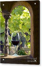 A Beautiful Day At The Vineyard Acrylic Print