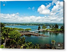 A Beautiful Day Over Hilo Bay Acrylic Print by Christopher Holmes