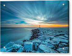A Beautiful Sunrise At The Old Scituate Lighthouse Acrylic Print