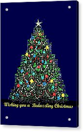 A Bedazzling Christmas Acrylic Print