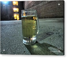 A Beer Mug In An Alley  Acrylic Print
