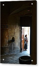 A Beggar At The Door Of A Church Acrylic Print by RicardMN Photography