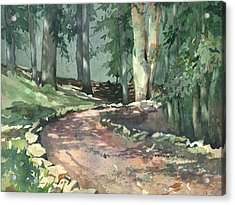 A Bend In The Road Acrylic Print by Spencer Meagher