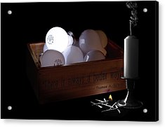 A Better Way Still Life - Thomas Edison Acrylic Print by Tom Mc Nemar