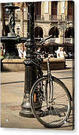 A Bicycle At Plaza Real Acrylic Print by RicardMN Photography