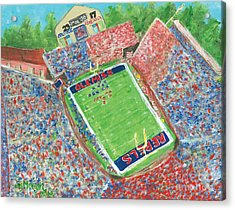 A Big Win In Oxford Ole Miss Alabama Game Acrylic Print