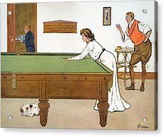 A Billiards Match Acrylic Print by Lance Thackeray
