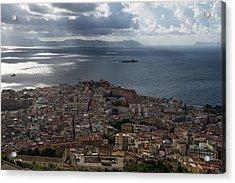 A Bird's-eye View Of Naples Italy Acrylic Print by Georgia Mizuleva