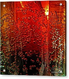 A Bit Of The Bubbly    Pepsi Acrylic Print by Debbie Portwood