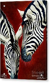 A Black And White Affair... Acrylic Print by Will Bullas