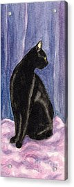 A Black Cat's Sexy Pose Acrylic Print