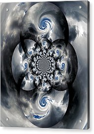 A Black Hole Acrylic Print by Skip Willits