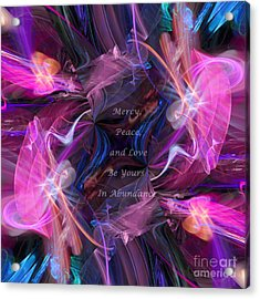 Acrylic Print featuring the digital art A Blessing by Margie Chapman