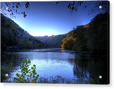 A Blue Lake In The Woods Acrylic Print