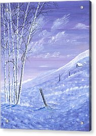 A Blue Winter Acrylic Print by Carl Genovese
