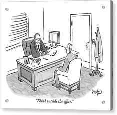 A Boss Asks His Employee Acrylic Print