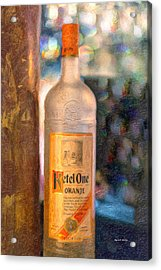 A Bottle Of Ketel One Acrylic Print by Angela A Stanton
